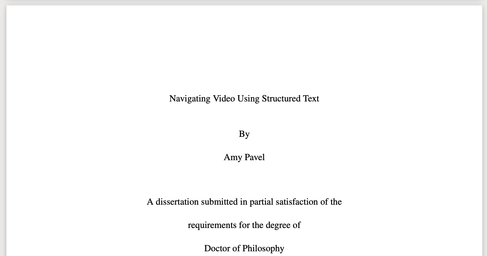 Title page of dissertation